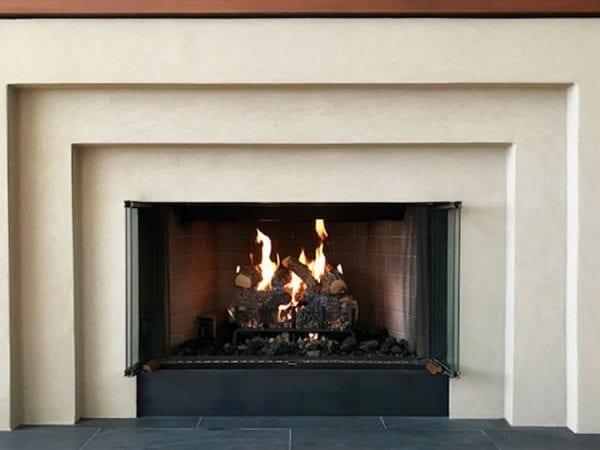 Lymestone-Acrylic-finish-on-a-fireplace-1