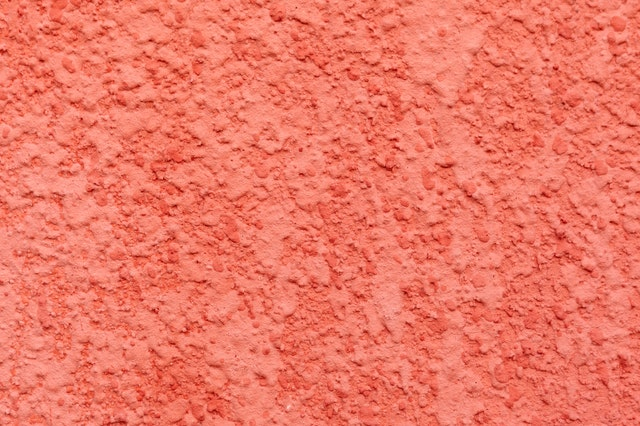 brightly painted plaster